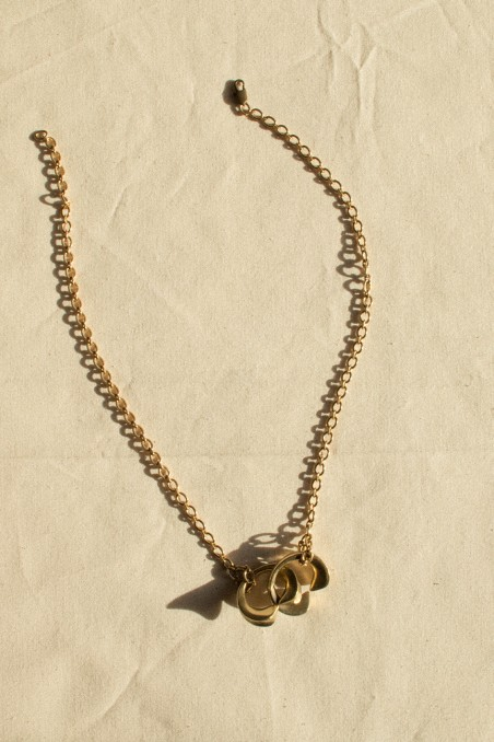Twins eslabón necklace